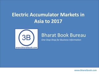 Electric Accumulator Markets in Asia to 2017 - Market Size,