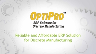 Discrete Manufacturing ERP Software