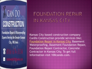 100cando.com Kanas City Based Construction Company