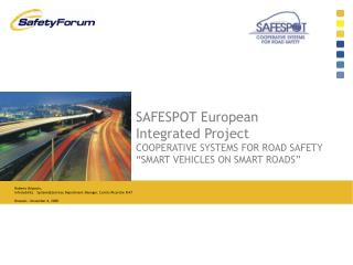 The SAFESPOT European Integrated Project
