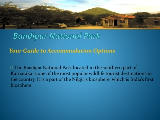 Wildlife Resorts in Bandipur
