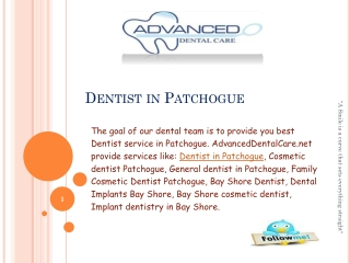 AdvancedDentalCare.net A Complete Dental Clinic in Patchogue