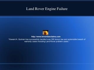 Land Rover Engine Failure