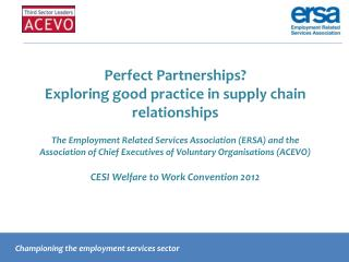 Championing the employment services sector