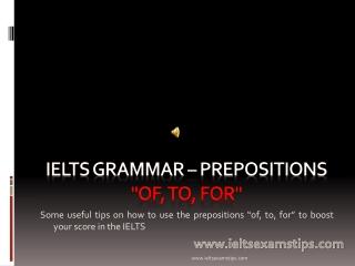 IELTS Grammar - Prepositions