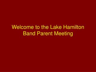 Welcome to the Lake Hamilton