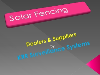 Solar Fencing Suppliers in Vijayawada