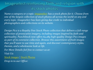 Imageselect reinforcing faith and religion with its stock ph