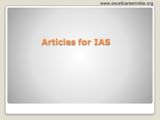 Articles for IAS