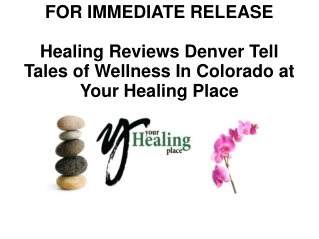 Your Healing Place Press Release