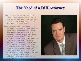 Do You Need a Denver DUI Attorney?