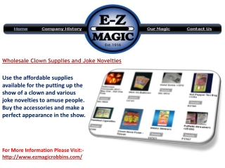 Wholesale Clown Supplies and Joke Novelties