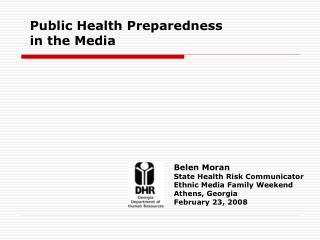 Public Health Preparedness 