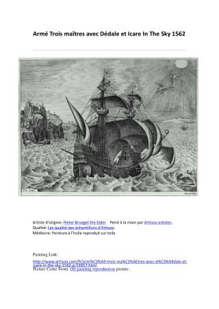 Armé Trois maîtres avec Dédale et Icare In The Sky 1562-pein