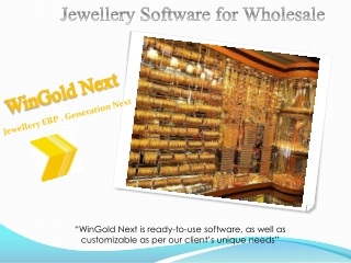 Jewellery Software for Wholesale