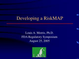 Developing a RiskMAP