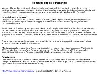 Domy w Poznaniu