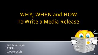 WHY, WHEN and HOW 