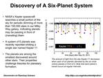 Discovery of A Six-Planet System