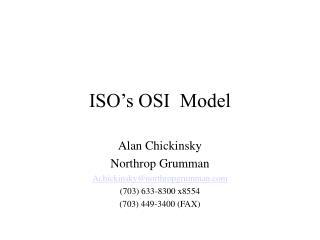ISO's OSI  Model