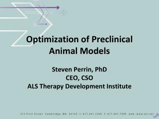 How to Validate a Pre-clinical Model