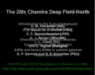 The 2Ms Chandra Deep Field-North