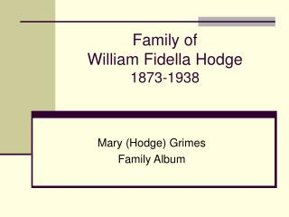 Family of 