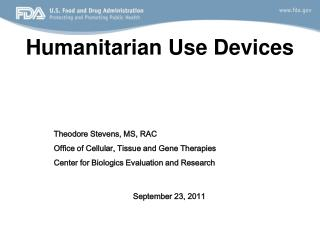 Humanitarian Use Devices
