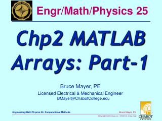 Engr/Math/Physics 25