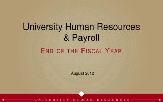 University Human Resources
