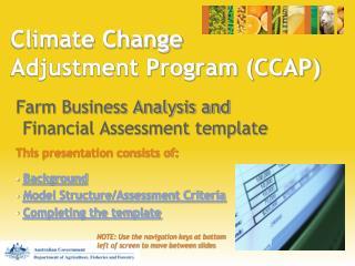 Climate Change Adjustment Program (CCAP)