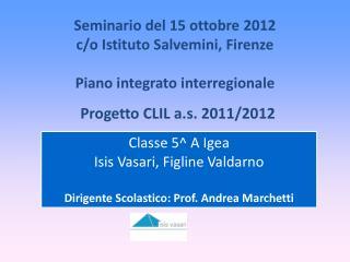 Progetto CLIL a.s. 2011/2012