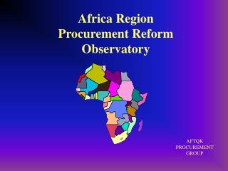 Africa Region Procurement Reform Observatory
