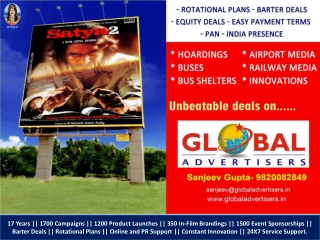SATYA-2 Outdoor Promotion in Mumbai