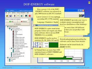 DOF-ENERGY software
