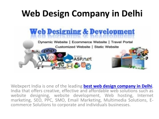 Webxpert India- Best Website Design and Development Company