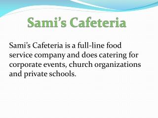 Corporate Cafeteria Management