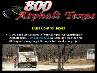 Dust Control Texas
