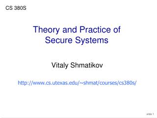 Theory and Practice of