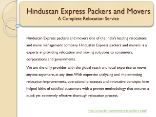 Hindustan Express Packers and Movers in Pune