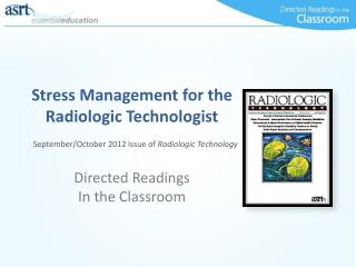 Stress Management for the Radiologic Technologist