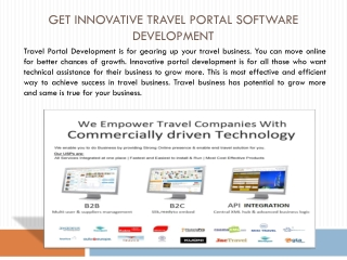 Get Innovative Travel Portal Software Development