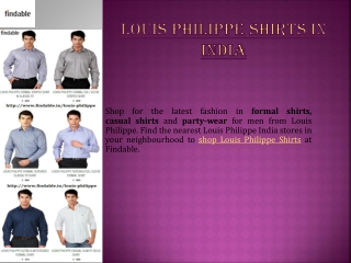 Shop Louis Philippe Shirts in India