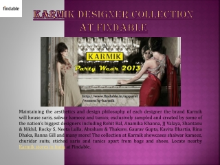 Karmik collection in India