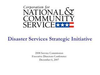 Disaster Services Strategic Initiative