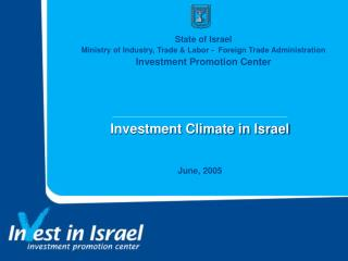 Investment Climate in Israel