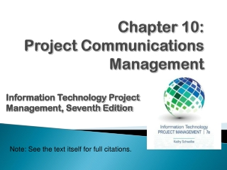develop an effective communications strategy for your project: 45 ...