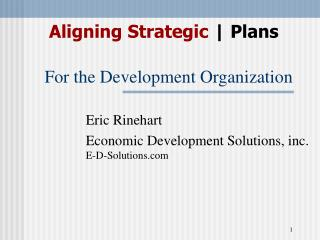 For the Development Organization