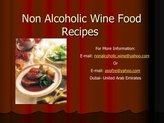 Non Alcoholic Wine Food Recipes