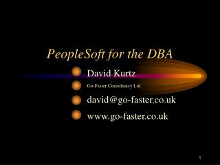 PeopleSoft for the DBA